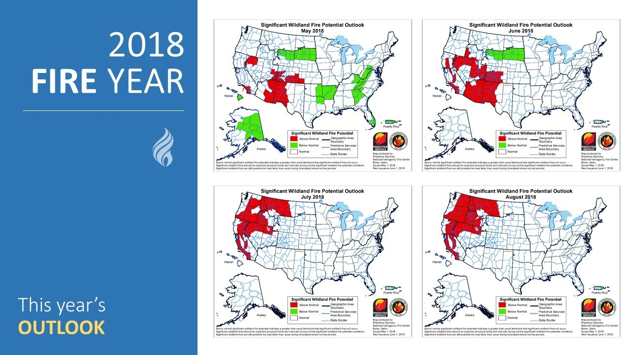 2018 Fire Year graphic