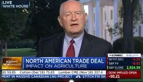 Agriculture Secretary Sonny Perdue speaking on CNBC Squawk Box