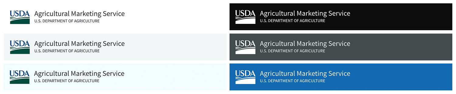 design usda logo background colors