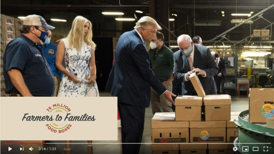 A highlight video of the Farmers to Families Food Box Program