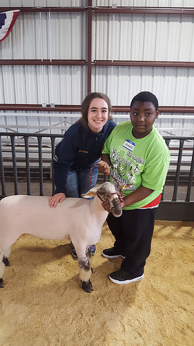 Hanna working the Special Edition San Angelo Livestock Show, which provides a great experience for disabled kids. Photo credit: Hanna Lisenbe, with permission