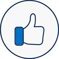 A thumbs up icon