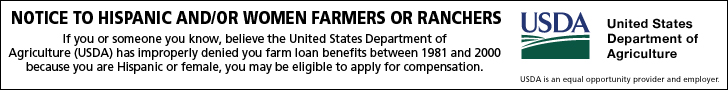 If you or someone you know, believe the United States Department of Agriculture (USDA) has improperly denied you farm loan benefits between 1981 and 2000 because you are Hispanic or female, you may be eligible to apply for compensation.