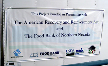 With assistance from USDA Rural Development, the Food Bank of Northern Nevada purchased a truck to bring food to remote communities.