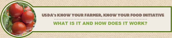 What is the Know Your Farmer, Know Your Food initiative?