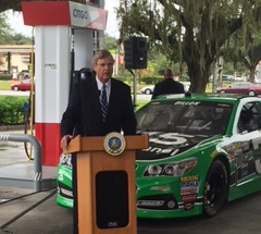 Secretary Vilsack announcing investments in renewable energy infrastructure through the Biofuel Infrastructure Partnership in Kissimmee, Fla.