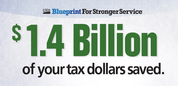 $1.4 billion of your tax dollars saved.