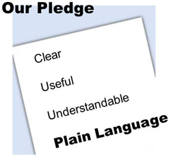Our Pledge: Clear, Useful, Understandable, PLAIN LANGUAGE