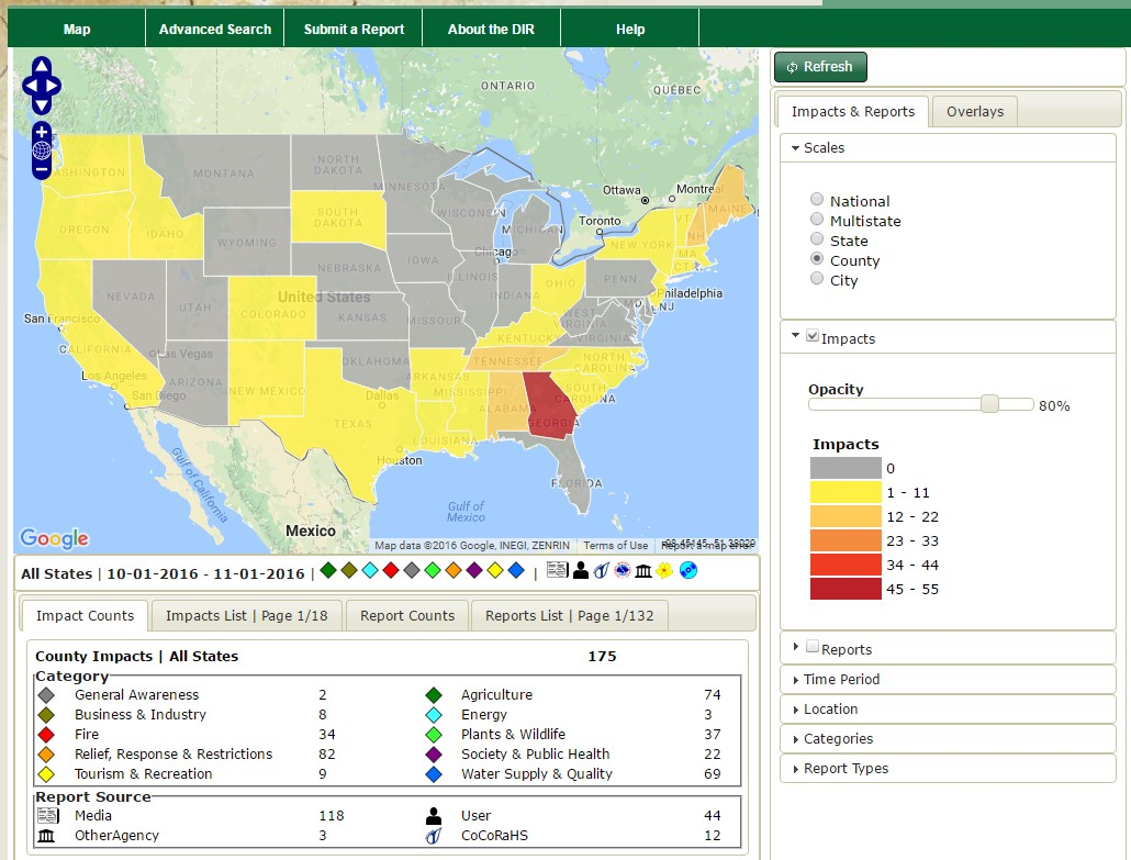 Drought Impact Reporter screenshot