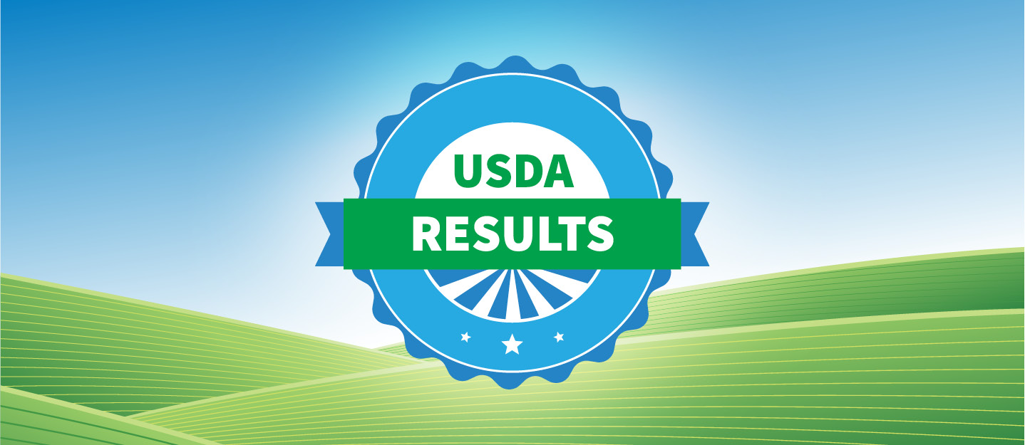USDA Results header