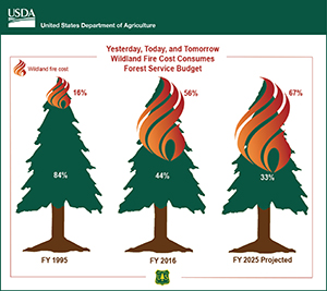 Forest Service Budget graphic