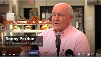 Agriculture Secretary Sonny Perdue speaking