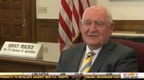 Agriculture Secretary Sonny Perdue speaking on RFD-TV