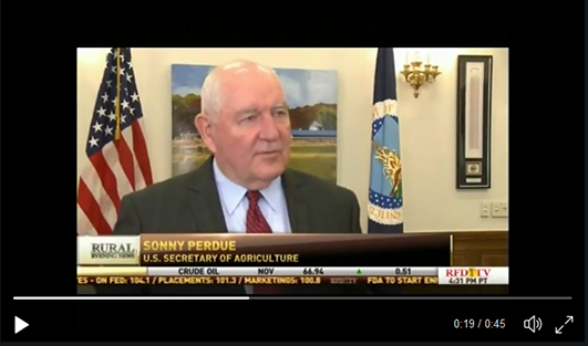 Secretary Perdue's interview with Sara Mock