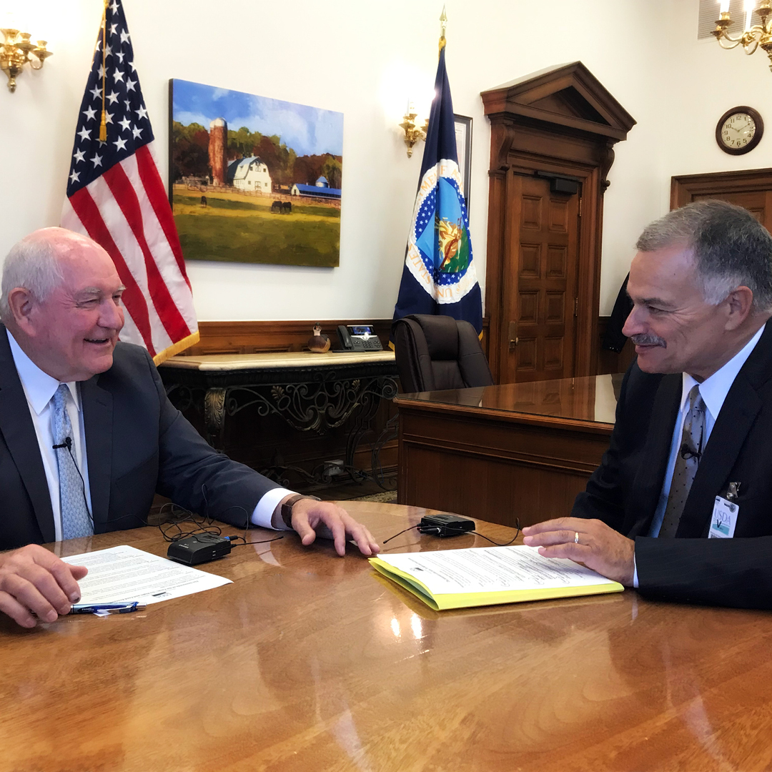 Secretary Perdue and Max Armstrong