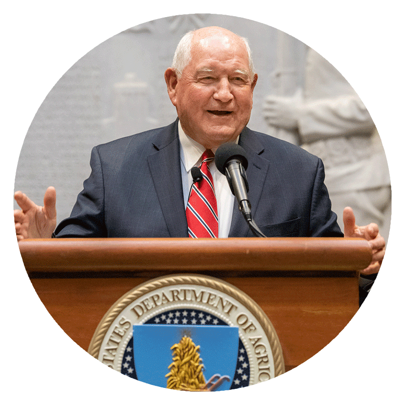 Secretary Perdue speaking at a podium