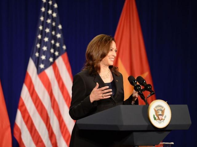 Vice President Kamala Harris in Hanoi, Vietnam