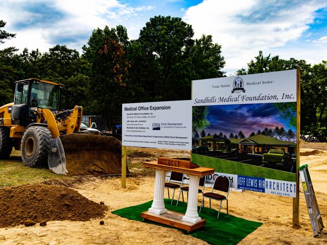 The Sandhills Medical Foundation, Inc groundbreaking for the expansion of their medical facility located in Lugoff, S.C.