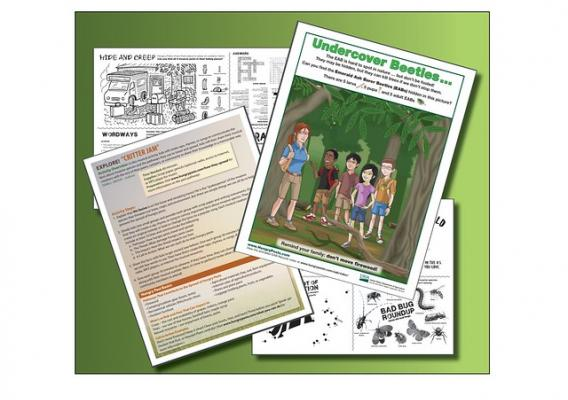 Four activities offered through Hungry Pests educator tools page