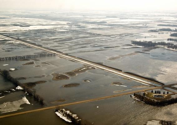 Farmland under water