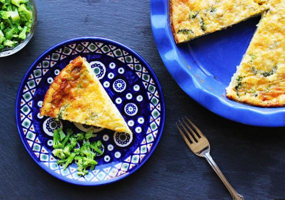 Magic Crust Quiche with frozen broccoli