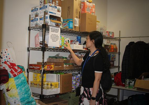 Sonoma County Human Services Department's food pantry