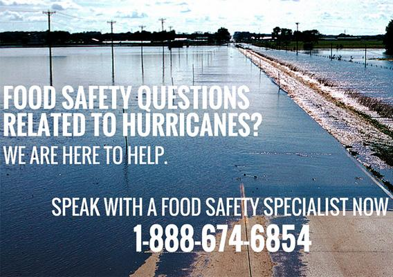 Consumers with questions about food safety related to power outages, or any other food safety question, should call the USDA Meat and Poultry Hotline at 1-888-MPHotline.