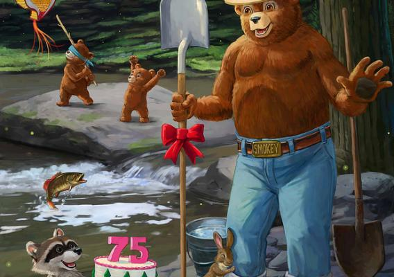 Smokey Bear 75th Birthday graphic