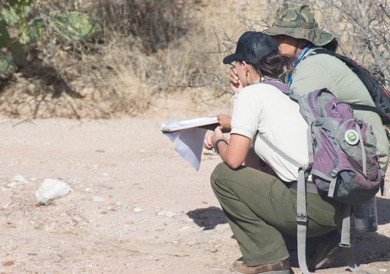 Tribal monitors in the field
