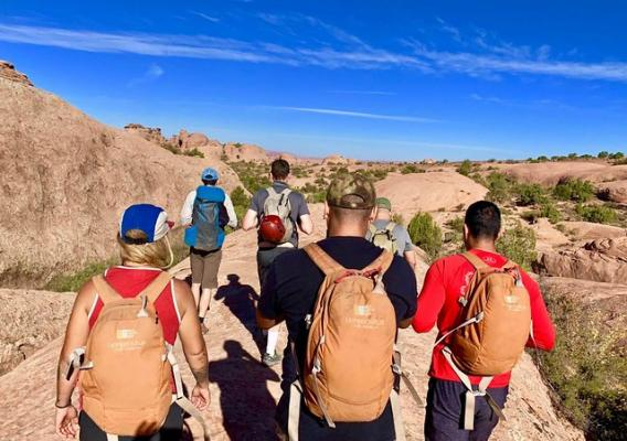 Veterans group on a hike