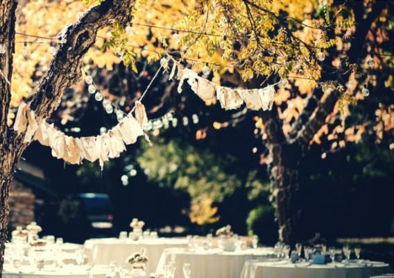 Yellow outdoor celebration décor