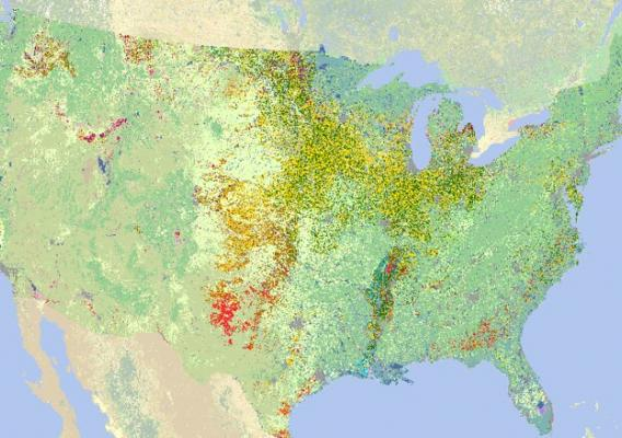 Cropland Data Layer map