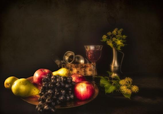 Fruit and goblets