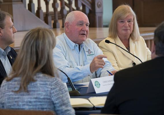 Agriculture Secretary Sonny Perdue hosting a task force listening session on improving quality of life for people living in rural areas, including the opioid epidemic