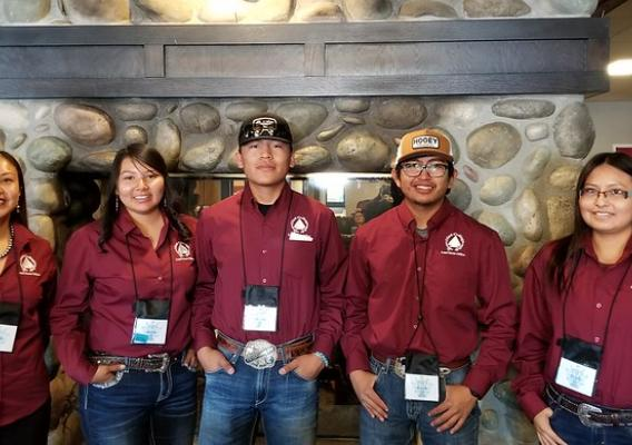 Representatives from Diné College at the 2019 American Indian Higher Education Consortium (AIHEC) Student Conference