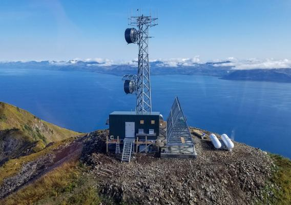 A broadband tower in Alaska