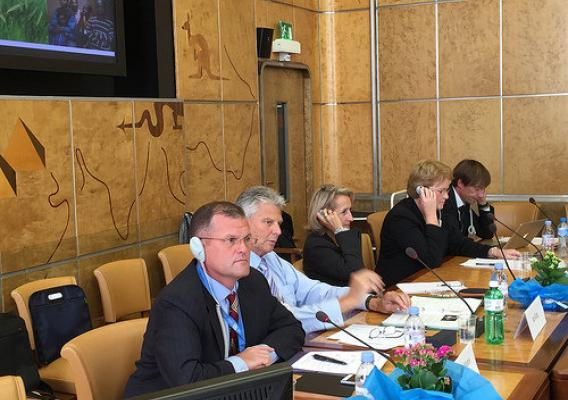 Craig Morris at a UNECE meeting