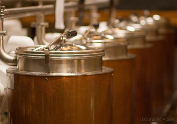 Brewing tanks from a craft brewery.  Massachusetts used a USDA Federal-State Marketing Improvement Program grant to help local farmers tap into the $14.3 billion craft brewing industry.   Photo courtesy Greg Peverill-Conti.