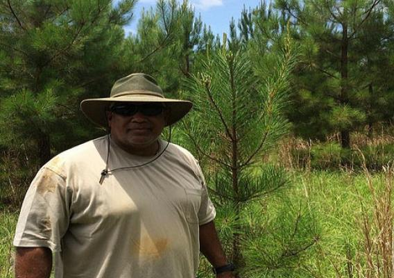 Farmer Randall Hildreth at his 500 acre farm in Marengo County, Alabama