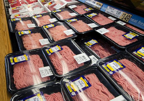 Meat at a grocery store in Fairfax, Virginia. USDA Photo by Lance Cheung.