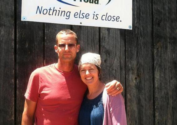 Jeff and Kim Essig gave their blueberry farm a boost with a microloan to help purchase equipment that will further expand their operation.