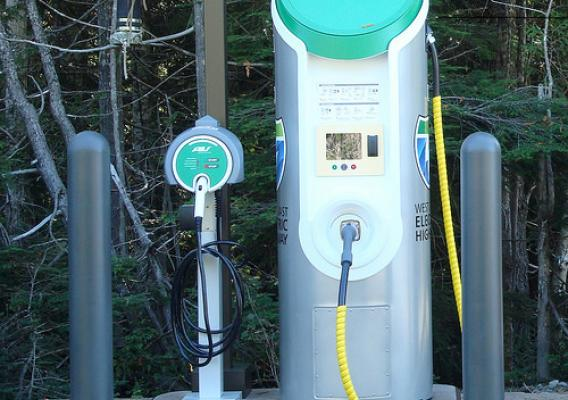 Mt. Hood National Forest is home to the nation's first electric vehicle fast charger installed on land managed by the U.S. Forest Service and on a ski resort. (Courtesy Oregon Department of Transportation)