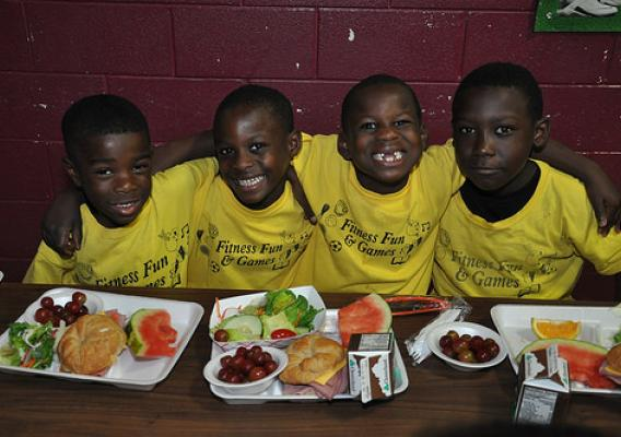 School meals play a major role in shaping the diets and health of young people. FNS photo.