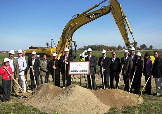 Agriculture Committee Chairman Congressman Collin Peterson, Under Secretary for Rural Development Dallas Tonsager, Minnesota State Director Colleen Landkamer and others broke ground on a new senior facility last week.