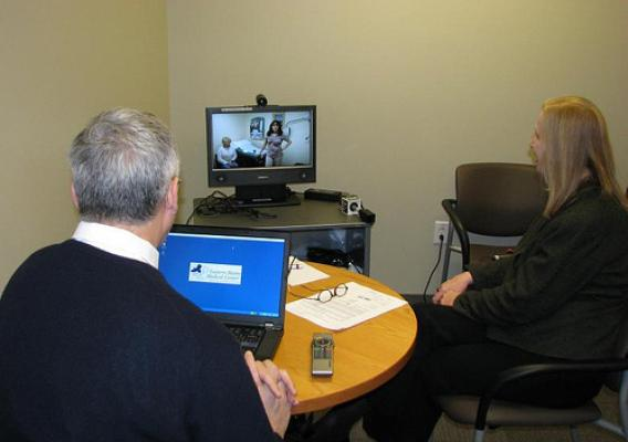 Telemedicine equipment connects oncologists with patients in Maine