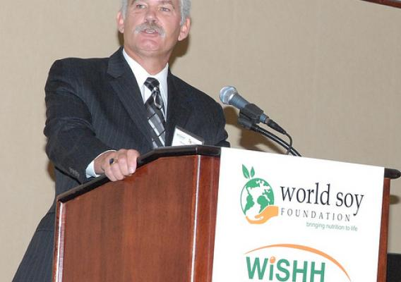 Farm and Foreign Agricultural Services Acting Under Secretary Michael Scuse talked about food assistance during the World Initiative for Soy in Human Health (WISHH) conference in Washington, D.C.