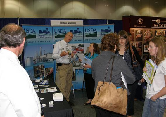 USDA Rural Development staffed a booth at the trade show which accompanied the conference.