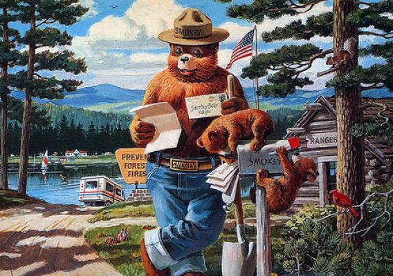 For 70 years, children and adults have written to Smokey Bear, the U.S. Forest Service symbol for wildfire prevention. So many letters were sent in the 1960s that the U.S. Postal Service authorized a ZIP code – 20252 – just for Smokey. (U.S. Forest Service)