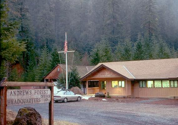 This is an image of the U.S. Department of Agriculture (USDA) U.S. Forest Service Pacific Northwest Research Station in H.J. Andrews Experimental Forest near Portland, OR. USDA photo.