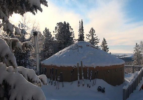 The tranquility of winter camping is ideal at the Grizzly Ridge yurt on the Ashley National Forest in Utah. Numerous hiking, biking and off-road trails crisscross the area. (U.S. Forest Service)